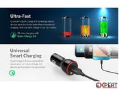 Incarcator auto PowerDrive 1 Anker Quick Charge 3.0 Negru