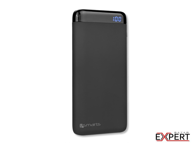 Baterie externa portabila 4smarts Power Bank VoltHub 10000 mAh Qualcomm Quick Charge 3.0 black