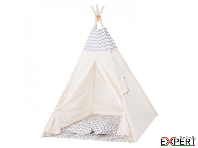 Cort copii stil indian Teepee Zigzag XXL