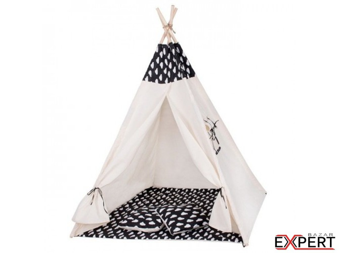 Cort copii stil indian Teepee White Clouds XXL